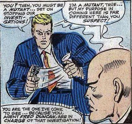 FBI-Agent Fred Duncan und Charles Xavier