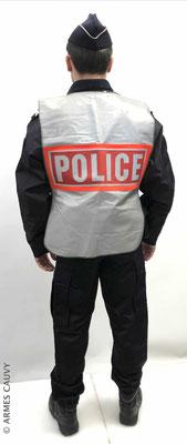 Uniforme Police hiver route + chasuble fluorescente