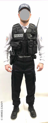 Uniforme Police polo manches longues + gilet patrouille