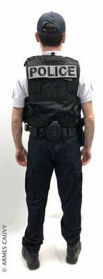 Uniforme Police polo manches courtes + gilet patrouille