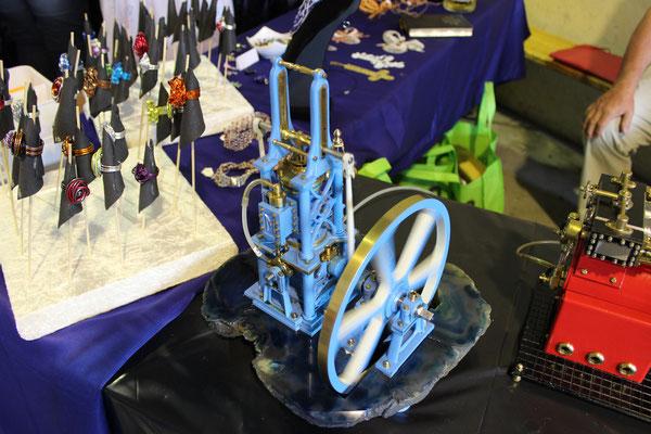 'Overhead crank' Dampfmaschine