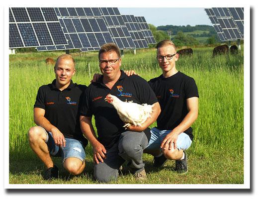 2018 - Helmut Schäfer mit seinen Söhnen Andre und Pascal