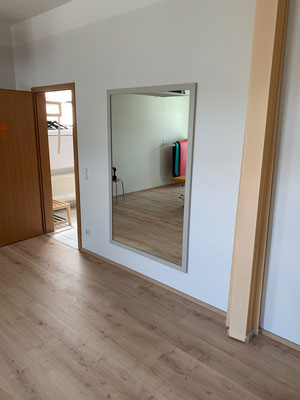 Großer Spiegel Raumtrenner Lamellenvorhang