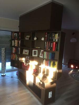 Ansicht Bücherregal Drehbereich 360°