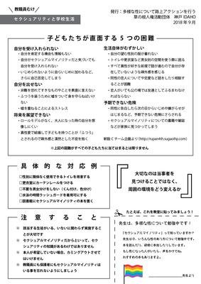4bd1d82bdb 教職員向け「多様な性の基礎知識」を作成しました(2018.09) - 神戸IDAHO ...