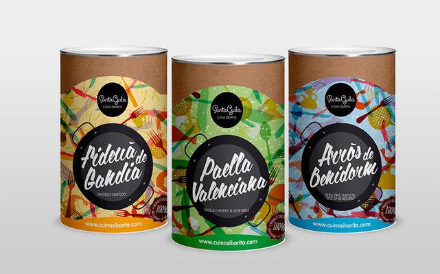 packaging, gandia, santagula, cuina sibarita, souvenir, delicatesen
