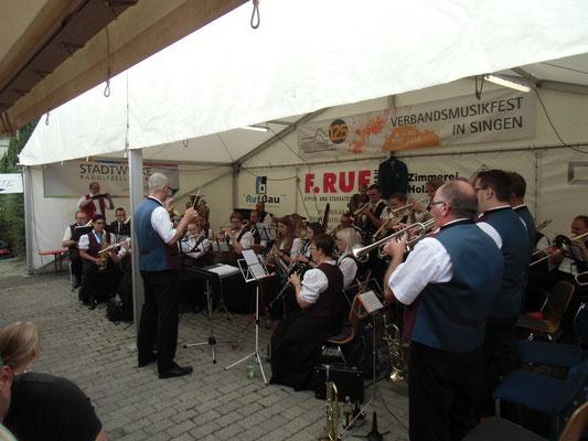 Dorfplatzfest und Bezirksmusikfest in Böhringen 22. und 23.07.2017
