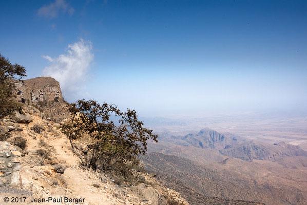 Falaise du Jebel Samhan sur la plaine côtière
