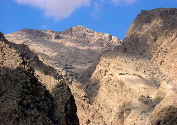 Jebel Qiwi depuis wadi Shams