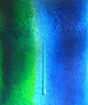 Pendel // Größe 1,70 x 1,40 m  -   Sandwelten // Frank Walter - Bilder aus Sand auf Leinwand mit Acrylfarbe