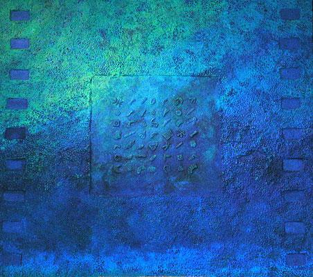 Meeresgrund // Größe 1,70 x 1,50 m  -   Sandwelten // Frank Walter - Bilder aus Sand auf Leinwand mit Acrylfarbe