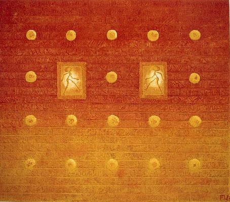 Der Tanz // Größe 1,70 x 1,50 m  -   Sandwelten // Frank Walter - Bilder aus Sand auf Leinwand mit Acrylfarbe