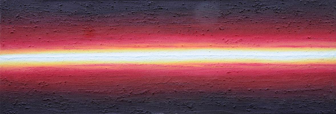 Horizont gerade // Größe  1,50 x 0,60 m  -   Sandwelten // Frank Walter - Bilder aus Sand auf Leinwand mit Acrylfarbe