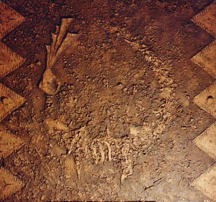 Fabelwesen // Größe 1,20 x 1,20 m  -   Sandwelten // Frank Walter - Bilder aus Sand auf Leinwand mit Acrylfarbe