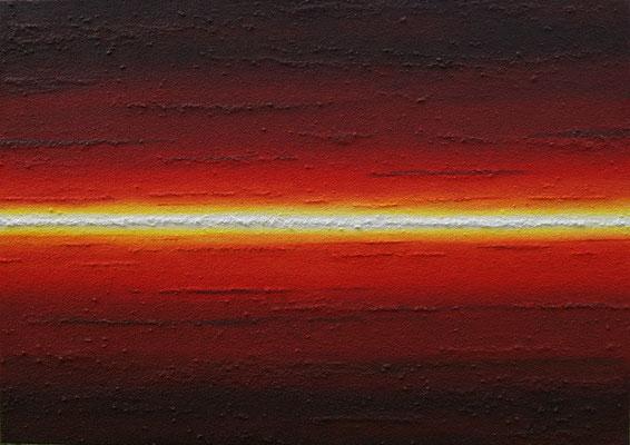 Horizont gerade // Größe 1,40 x 1,00 m  -   Sandwelten // Frank Walter - Bilder aus Sand auf Leinwand mit Acrylfarbe