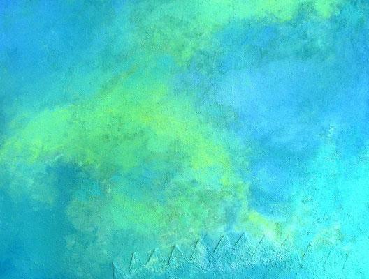 Himmel // Größe 1,70 x 1,50 m  -   Sandwelten // Frank Walter - Bilder aus Sand auf Leinwand mit Acrylfarbe
