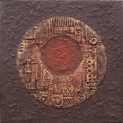 Traumtor // Größe 0,90 x 0,90 m  -   Sandwelten // Frank Walter - Bilder aus Sand auf Leinwand mit Acrylfarbe