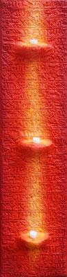 Kerzenleiste braun // Größe 1,50 x 0,30 m  -   Sandwelten // Frank Walter - Bilder aus Sand auf Leinwand mit Acrylfarbe