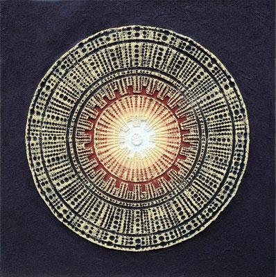 Mandala // Größe 1,00 x 1,00 m  -   Sandwelten // Frank Walter - Bilder aus Sand auf Leinwand mit Acrylfarbe