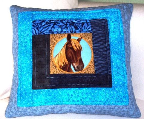 Kinderkissen: Ich liebe Pferde! 30x30