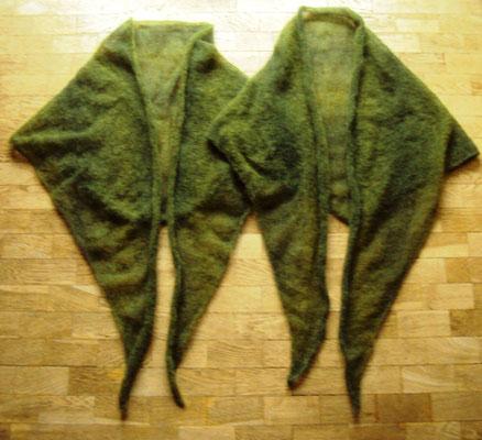 Kuscheltücher aus Gomitolo Silkhair (Lana Grossa)