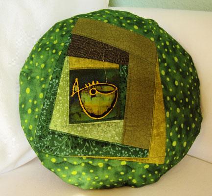 grünes Fischkissen, Durchmesser 30 cm