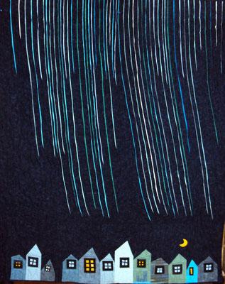 Regenstadt, 140 x 210, maschinengenäht, longarmgequiltet