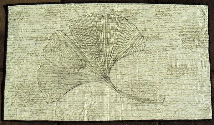 Gingko A1, sw, Maerz 1708, 1005 cm x 65 cm