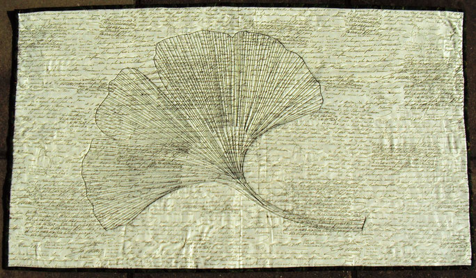 Gingko A1, sw, Maerz 1708, 105 cm x 65 cm