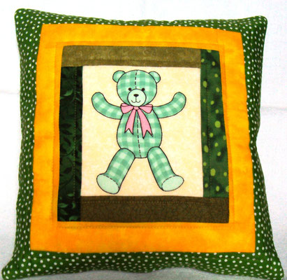 Für einen Jungen :-) grüner Teddy, 30 x 30