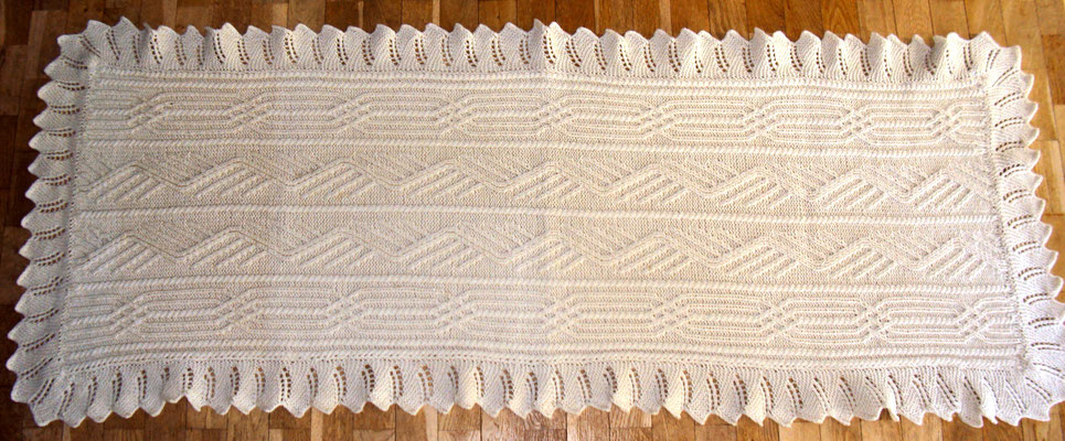 Schal 1,80m x 0,70m aus reiner Schafwolle