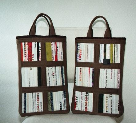 Büchertaschen von hinten