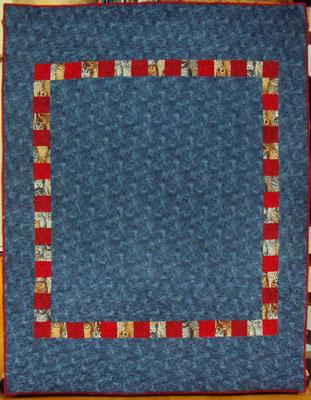Eulenquilt, 140 cm  x 210 cm, maschinengenäht, longarmgequiltet