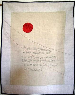 """Bertold Brecht """"An die Nachgeborenen"""", 100 x 80"""