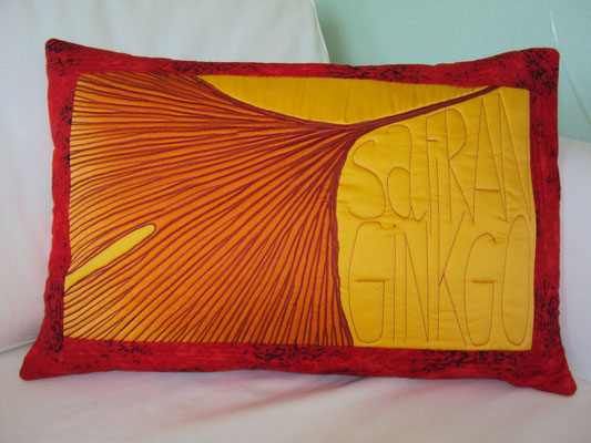 Safranginkgo mit rotem Rand, 40x60