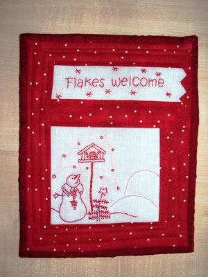 Flakes welcome, 30 x 25