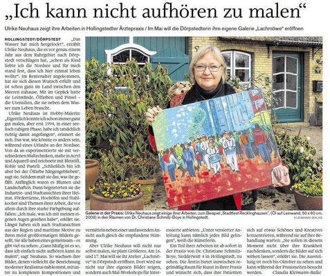 Ausstellung bei Frau Dr. Schmitz-Boye, Hollingstedt