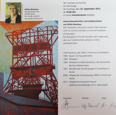 Einladung zur Vernissage, RA Naundorf, Osnabrück