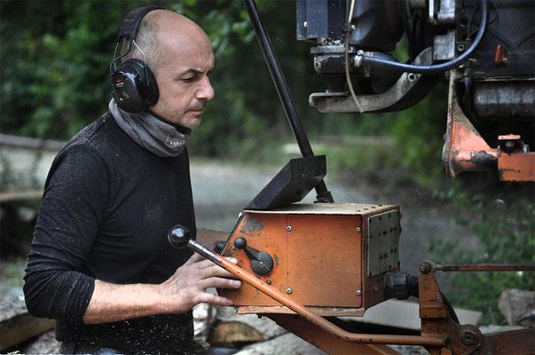 Märkisch Holz, unterwegs mit dem mobilen Sägewerk