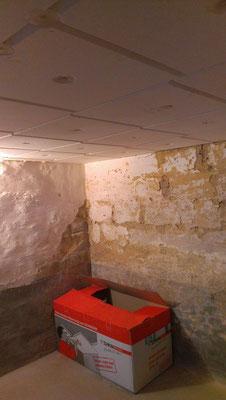 Kellerdeckendämmung mit 60mm Styropor