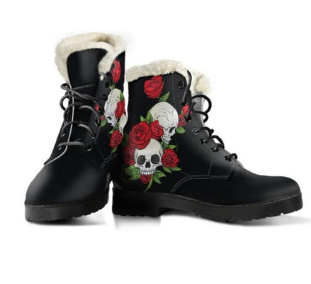 Skull women boots Black 100420