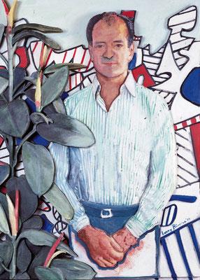 Carlo Bilotti con Dubuffet sullo sfondo, Larry Rivers