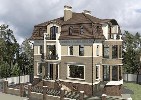 Эскизный проект 3-х этажного дома
