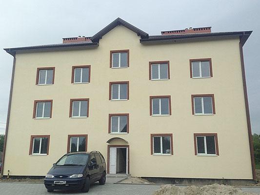 После реконструкции дома, вид с главного фасада