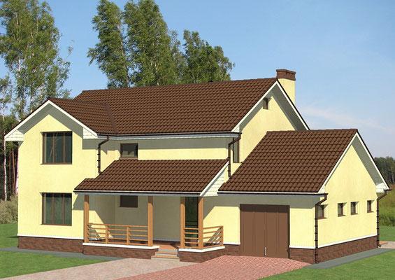 Эскизный проект 2-х этажного дома
