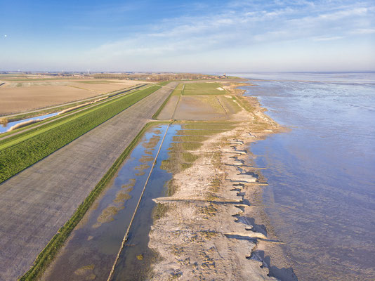 Drone shot Waddenkust Wierum - © Jurjen Veerman