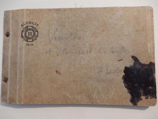 Original Notizheft mit Pariser Radierungen