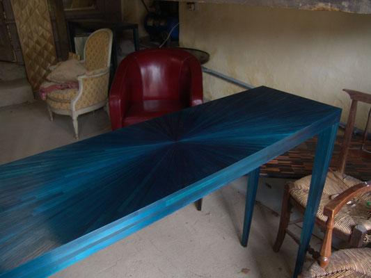 console bleu-lumière