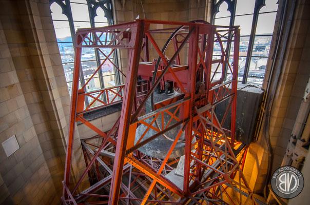 Hier wird die moderne Bauweise mittel Stahlkonstruktion ersichtlich.