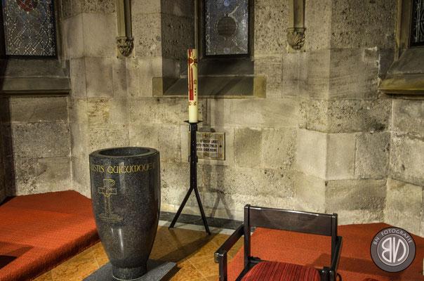Der Grundstein des Mariendoms Linz. Er ist aus Israel nach Linz gebracht worden